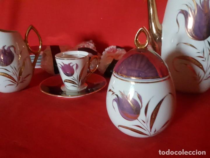Vintage: Juego de café o té CAPEANS de porcelana con adornos florales. - Foto 2 - 155150834