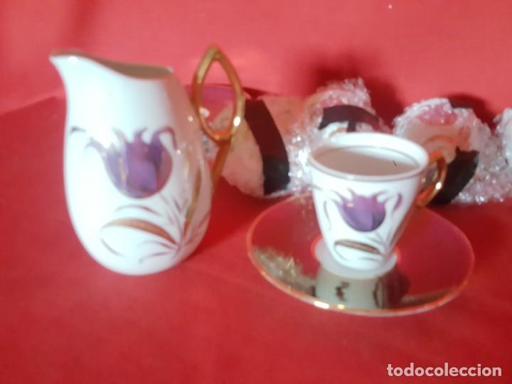 Vintage: Juego de café o té CAPEANS de porcelana con adornos florales. - Foto 3 - 155150834