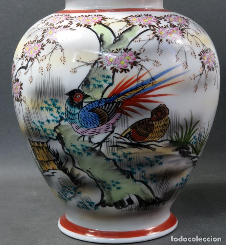 Vintage: Pareja de tibores en porcelana de estilo oriental China años 50 - Foto 4 - 155229342