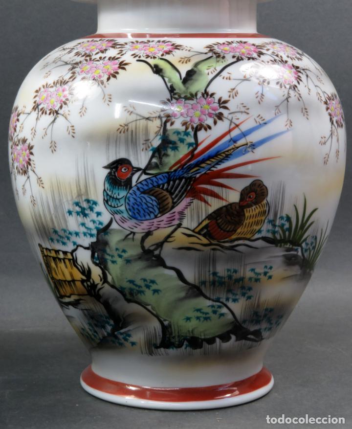 Vintage: Pareja de tibores en porcelana de estilo oriental China años 50 - Foto 5 - 155229342