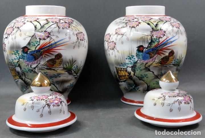 Vintage: Pareja de tibores en porcelana de estilo oriental China años 50 - Foto 6 - 155229342