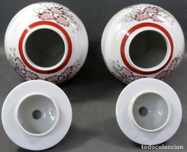 Vintage: Pareja de tibores en porcelana de estilo oriental China años 50 - Foto 7 - 155229342