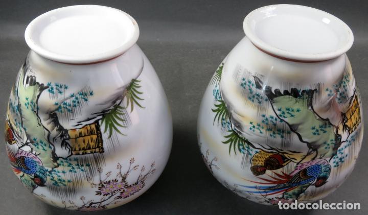 Vintage: Pareja de tibores en porcelana de estilo oriental China años 50 - Foto 8 - 155229342