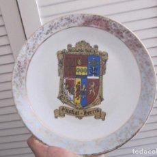 Vintage: PLATO DE PORCELANA DE EUSKAL - HERRIA,INCLUYE SOPORTE-AÑOS 80S-25CM. Lote 155241438