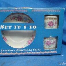 Vintage: SET TU Y YO - AUTENTICA PORCELANA CHINA - NUEVOS. Lote 155248118