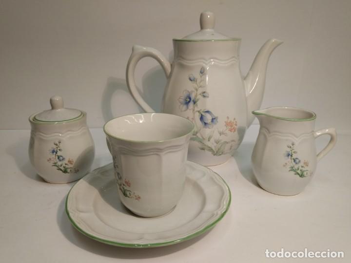JUEGO DE CONSOMÉ (Vintage - Decoración - Porcelanas y Cerámicas)