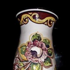 Vintage: JARRÓN PARAGUERO DE CERAMICA DE FIRMA DE PRESTIGIO, C. ALCAIDE, MUY NUEVO, MEDIDAS, 46 X 24. Lote 155618482