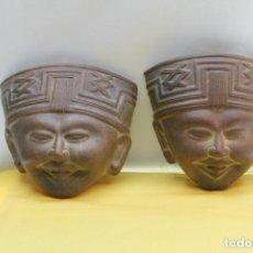 Vintage: MASCARAS MAYAS TERRACOTA. Lote 155784130