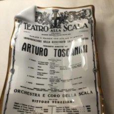 Vintage: FORNASETTI PLATO ORIGINAL PORCELANA DEL TEATRO ALLA SCALA. Lote 155833970