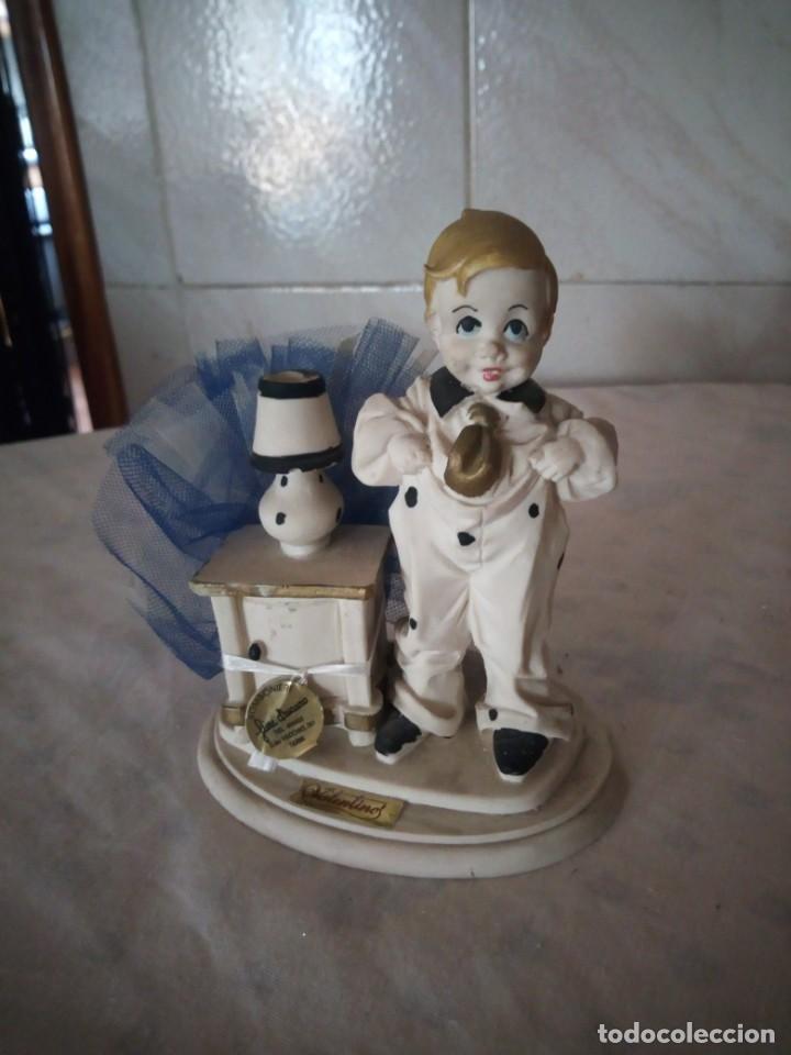Vintage: Bonita figura de niño valentinos marfinit,con bolsita de caramelos,años 80 - Foto 2 - 155860486