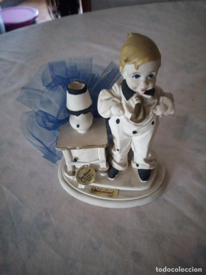 Vintage: Bonita figura de niño valentinos marfinit,con bolsita de caramelos,años 80 - Foto 5 - 155860486