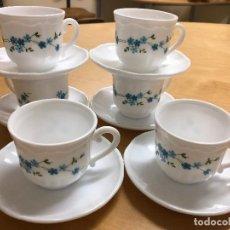Vintage: JUEGO CAFE CON LECHE,ARCOPAL AÑOS 60. Lote 156521498