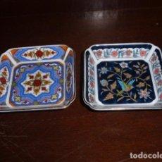 Vintage: PAREJA DE PLATITOS CUADRADOS ORIENTALES QUE SE VENDIAN EN EL CORTE INGLES EN LA SEMANA DE CHINA . Lote 156534766