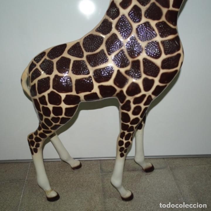 Vintage: Gran jirafa de cerámica.129 cm de alta.gran calidad. - Foto 3 - 156668686
