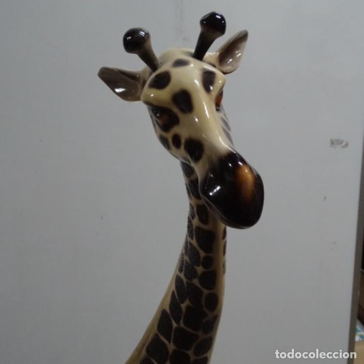 Vintage: Gran jirafa de cerámica.129 cm de alta.gran calidad. - Foto 5 - 156668686