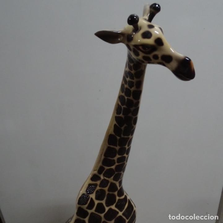Vintage: Gran jirafa de cerámica.129 cm de alta.gran calidad. - Foto 7 - 156668686