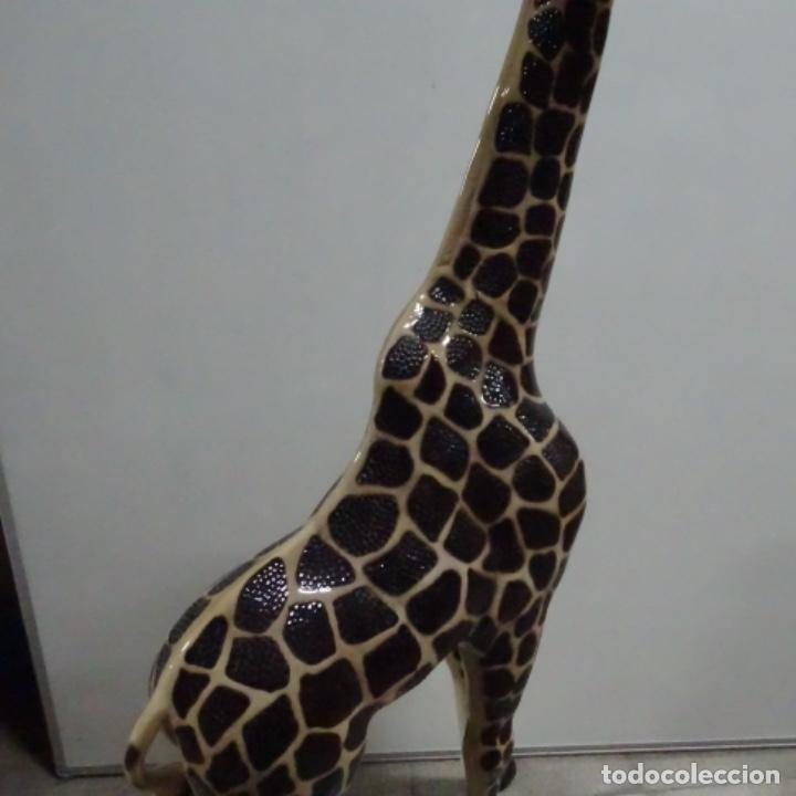 Vintage: Gran jirafa de cerámica.129 cm de alta.gran calidad. - Foto 9 - 156668686