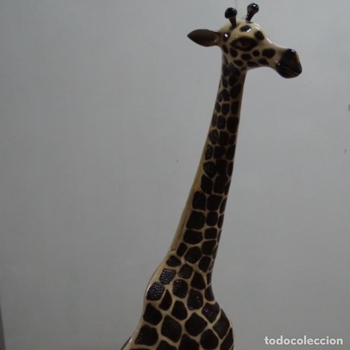 Vintage: Gran jirafa de cerámica.129 cm de alta.gran calidad. - Foto 10 - 156668686