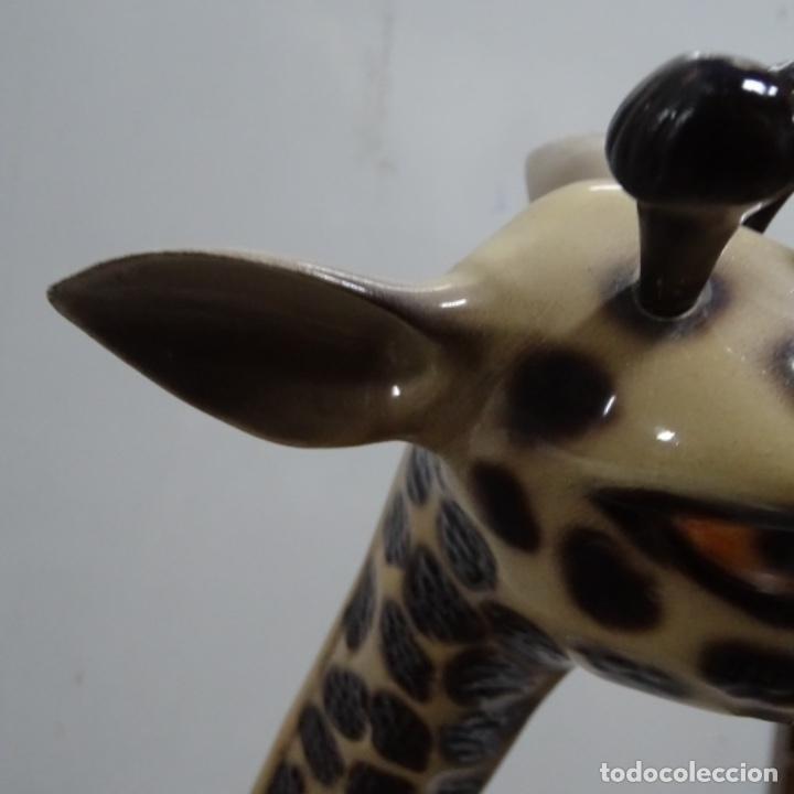 Vintage: Gran jirafa de cerámica.129 cm de alta.gran calidad. - Foto 11 - 156668686