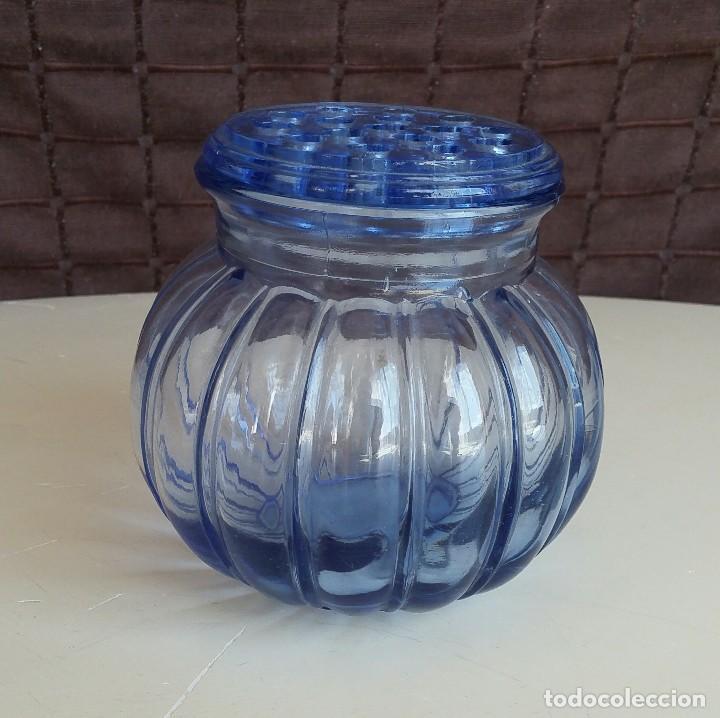 Vintage: Florero de cristal azul. Años 50-60 - Foto 2 - 157752850