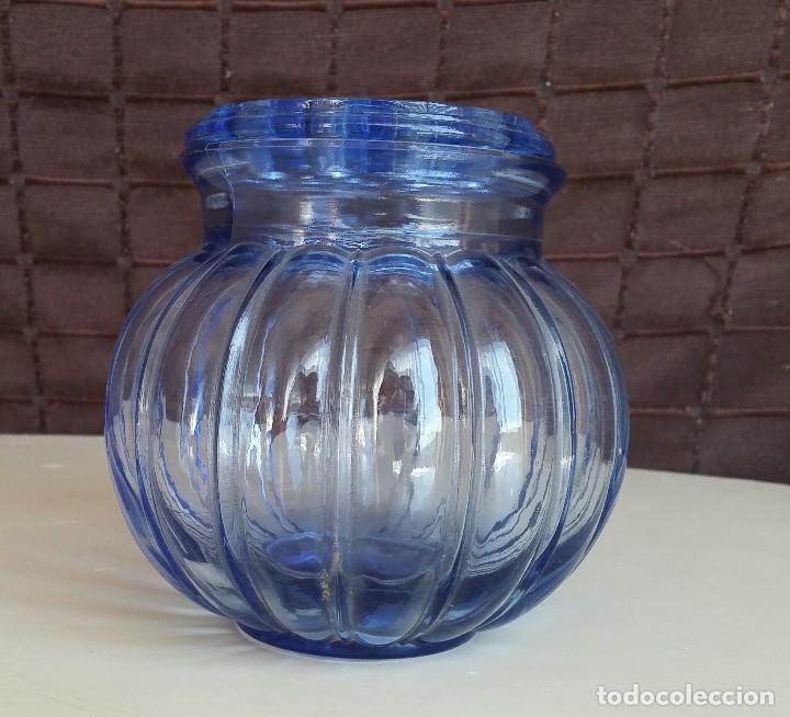 Vintage: Florero de cristal azul. Años 50-60 - Foto 3 - 157752850