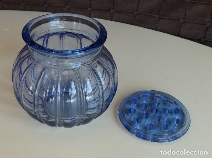Vintage: Florero de cristal azul. Años 50-60 - Foto 4 - 157752850