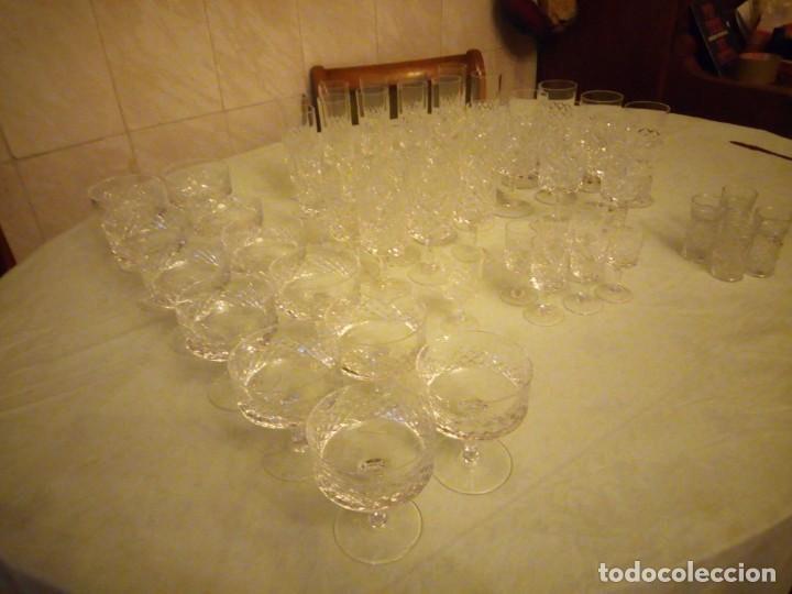 Vintage: Antigua cristalería compuesta de 55 piezas,vino,champagne,coctel,licor,años 70 - Foto 2 - 157981694