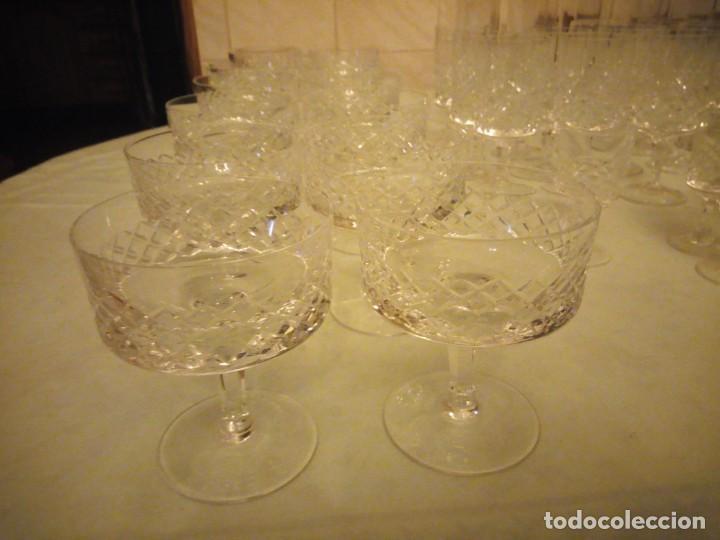 Vintage: Antigua cristalería compuesta de 55 piezas,vino,champagne,coctel,licor,años 70 - Foto 3 - 157981694