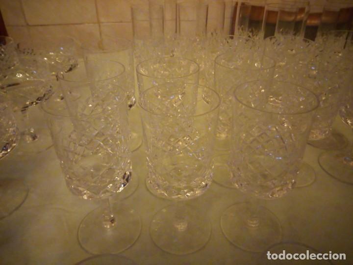 Vintage: Antigua cristalería compuesta de 55 piezas,vino,champagne,coctel,licor,años 70 - Foto 5 - 157981694