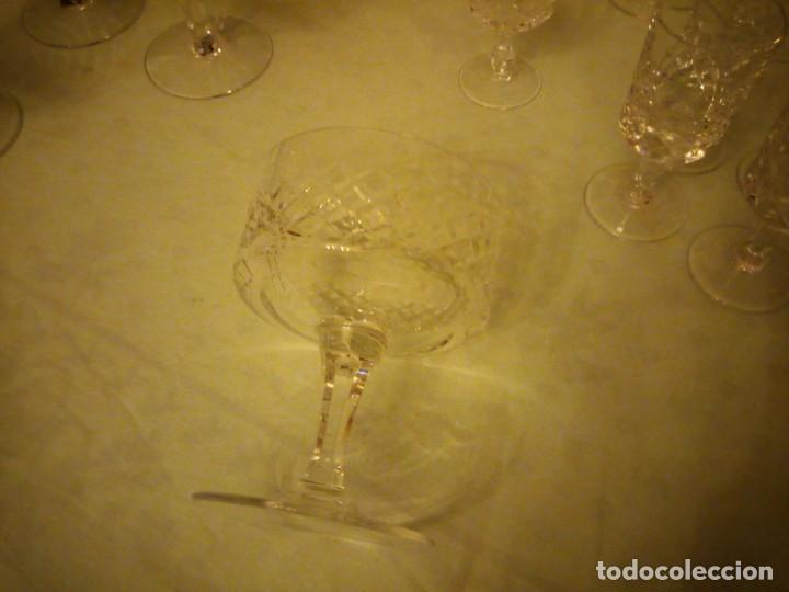 Vintage: Antigua cristalería compuesta de 55 piezas,vino,champagne,coctel,licor,años 70 - Foto 8 - 157981694