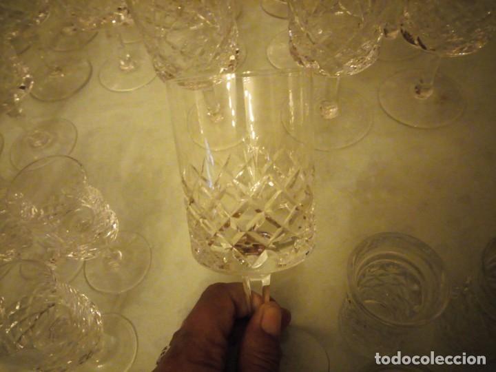 Vintage: Antigua cristalería compuesta de 55 piezas,vino,champagne,coctel,licor,años 70 - Foto 12 - 157981694