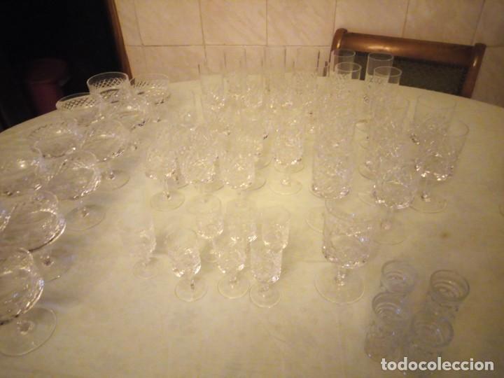 Vintage: Antigua cristalería compuesta de 55 piezas,vino,champagne,coctel,licor,años 70 - Foto 17 - 157981694