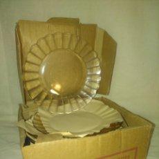 Vintage: CAJA ORIGINAL CON DOCE PLATOS POSTRE CRISTAL DURALEX. Lote 158340946