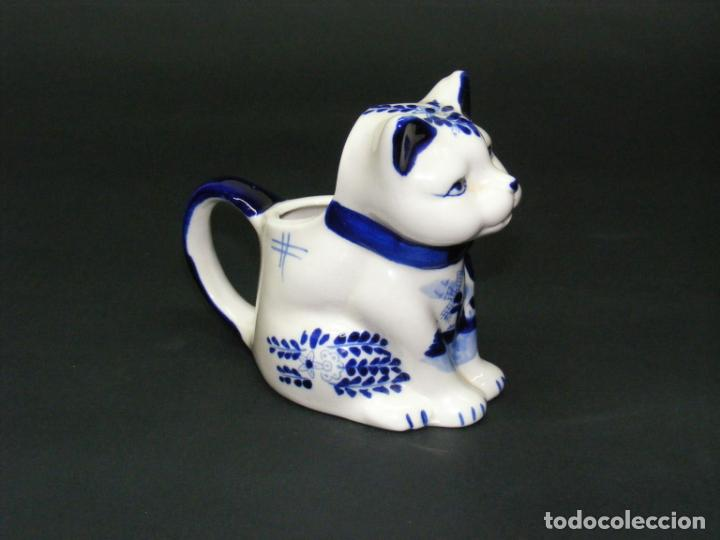 Vintage: JARRA PARA LECHE - FIGURA DE PORCELANA HANDP D BLUE Nº 635 - . - Foto 3 - 158421906