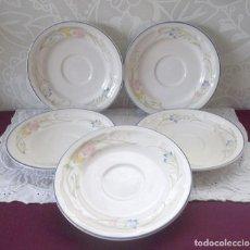 Vintage: JUEGO 5 PLATOS FRENCH GARDEN-TAILANDIA. Lote 158877162