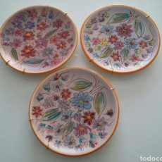 Vintage: TRES PLATOS EN PORCELANA FRANCESA DE VALLAURIS. Lote 158955465