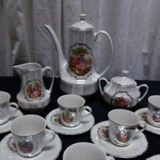 Vintage: JUEGO CAFÉ PORCELANA VINTAGE. Lote 160048318