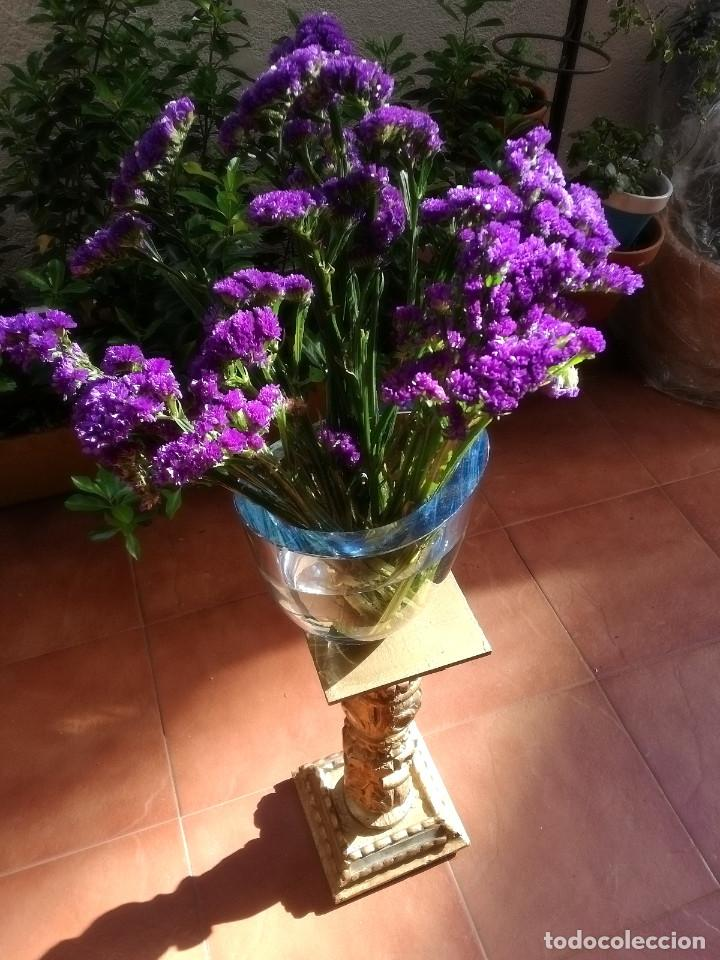 Vintage: Florero de cristal - Foto 3 - 160098802