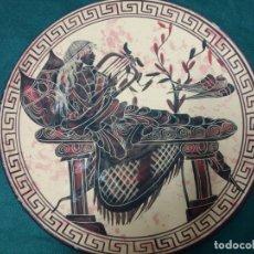 Vintage: PLATO TERRACOTA GRIEGO NUMERADO. Lote 160276314