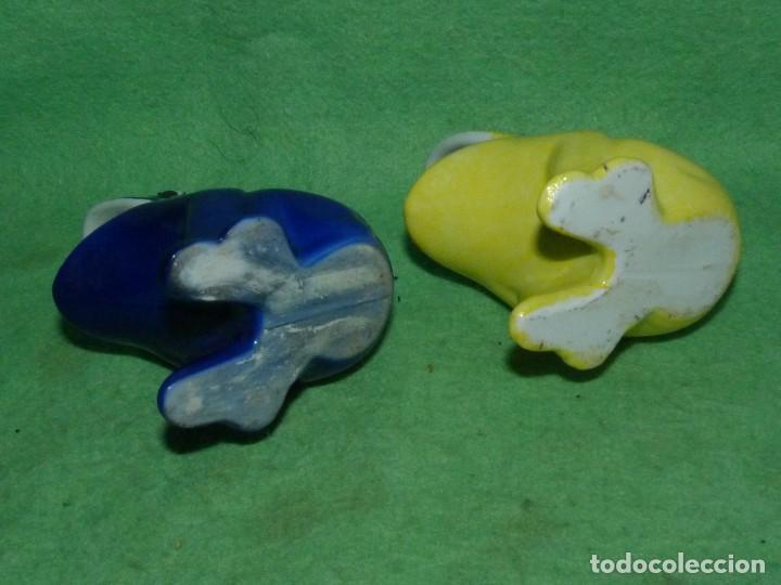 Vintage: Genial pareja huesera aceituna rana pez palillero porcelana pintada esmalte años 70 vintage - Foto 4 - 160407650