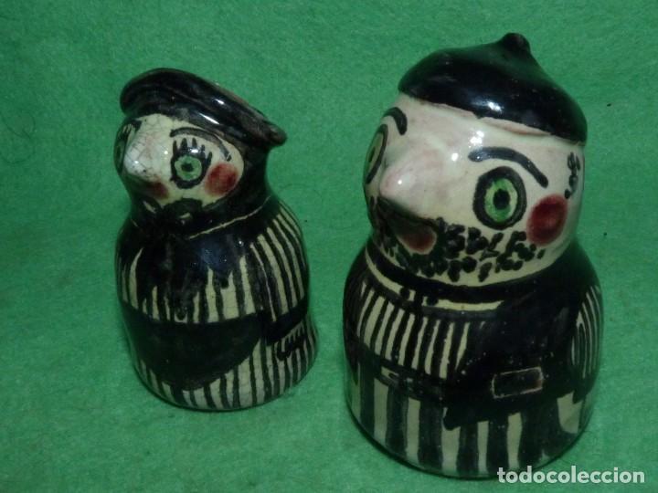 Vintage: Divertidos salero pimentero cerámica figuras pareja personajes pìntado a mano coleccion - Foto 5 - 160416954