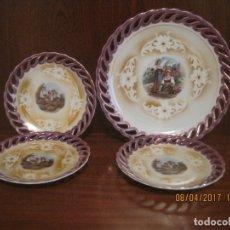 Vintage: 12+1 PLATOS ANTIGUOS DE POSTRE. Lote 160713390
