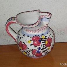 Vintage: PEQUEÑA JARRA ITALIANA PINTADA A MANO. FIRMADO DERUTA.. Lote 160825678