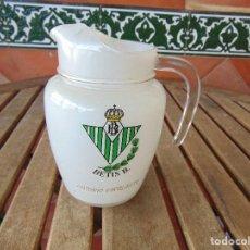 Vintage: JARRA PARA AGUA CON EL ESCUDO DEL REAL BETIS BALOMPIE FUTBOL . Lote 160929634