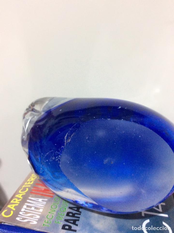 Vintage: Figura Cristal soplado, murano. Vintage. Cisne. Azúl - Foto 4 - 161021096