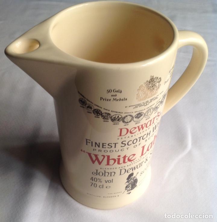 JARRA CERÁMICA DE WHISKY WHITE LABEL (Vintage - Decoración - Porcelanas y Cerámicas)