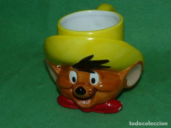 ESCASA TAZA SPEEDY GONZALES APPLAUSE INC WARNER BROS 1994 CERAMICA ORIGINAL (Vintage - Decoración - Porcelanas y Cerámicas)