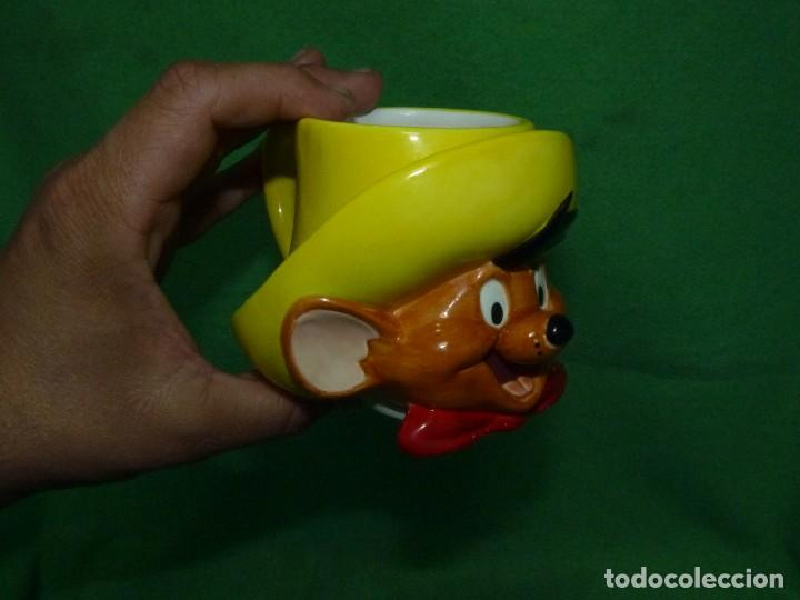 Vintage: ESCASA TAZA SPEEDY GONZALES APPLAUSE INC WARNER BROS 1994 CERAMICA ORIGINAL - Foto 4 - 162420550