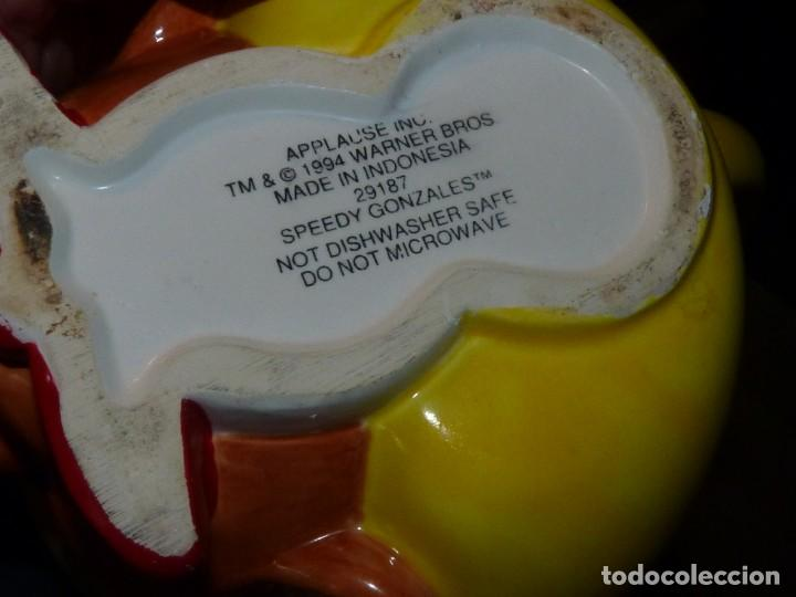 Vintage: ESCASA TAZA SPEEDY GONZALES APPLAUSE INC WARNER BROS 1994 CERAMICA ORIGINAL - Foto 5 - 162420550