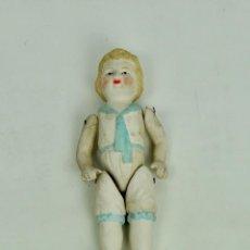 Vintage - Biscuit articulado traje azul y blanco - 163077694